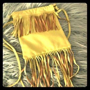 Mini crossbody fringe purse